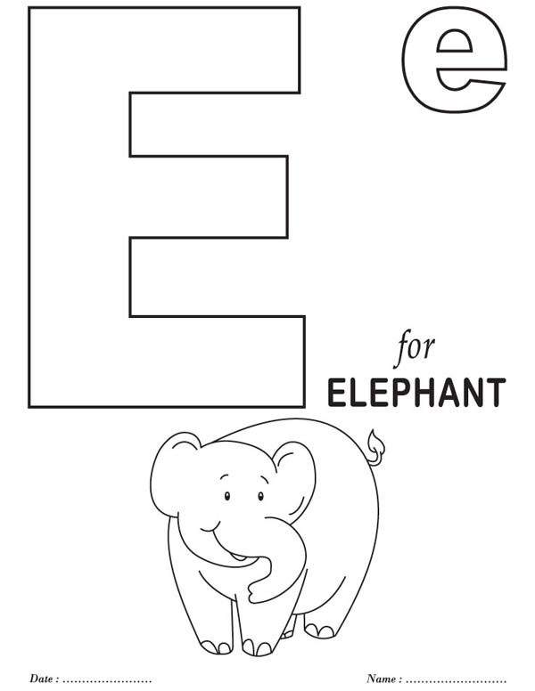 big letter e coloring page best place to color