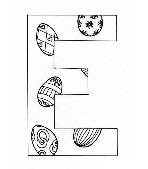 capital case letter e coloring page best place to color