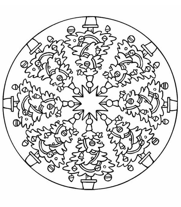 christmas mandala christmas tree mandala christmas coloring pages