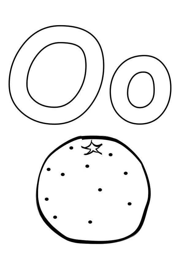 kindergarden kids learning orange for letter o coloring page
