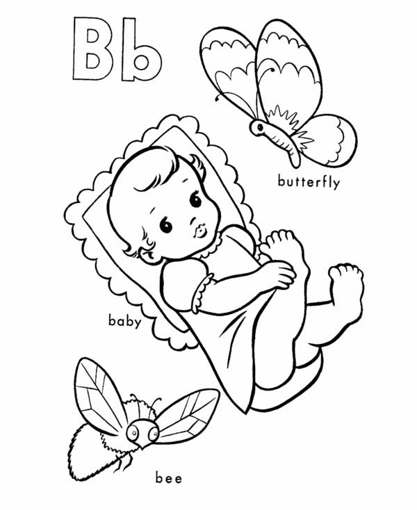 Letter B Coloring. letter b coloring page. printable letter b ...