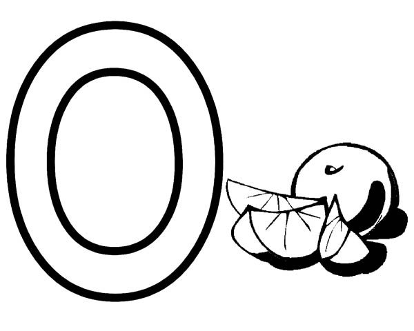 letter o coloring page for orange best place to color