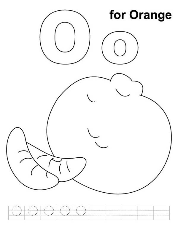 orange for letter o coloring page best place to color