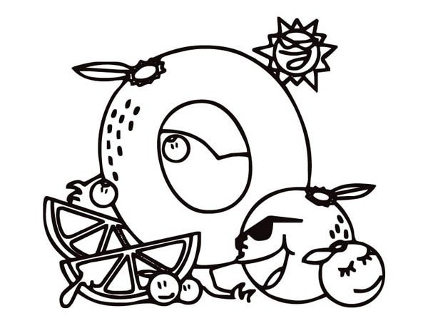 oranger for letter o coloring page best place to color