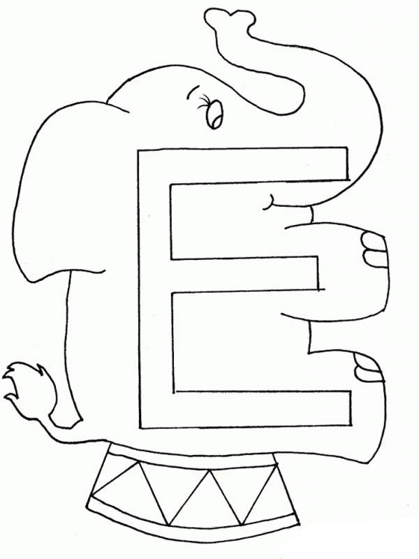 preschool learning letter e coloring page best place to color