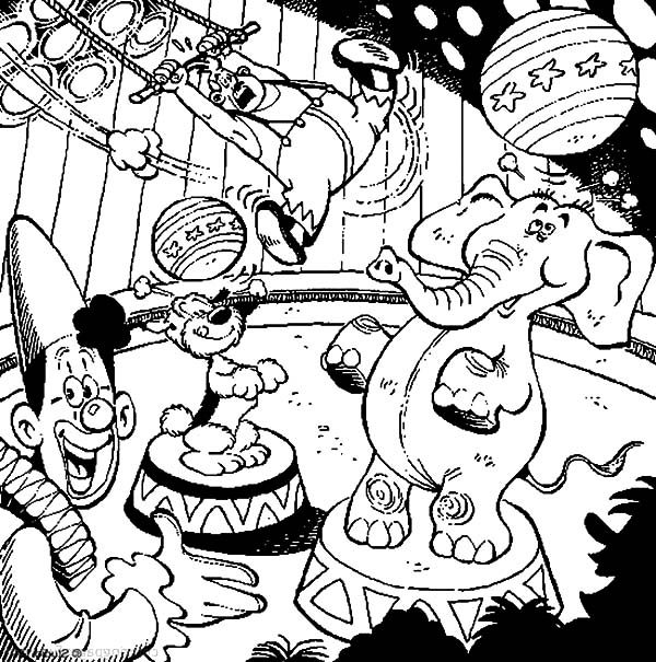 samson and gert with circus animals coloring pages best place to