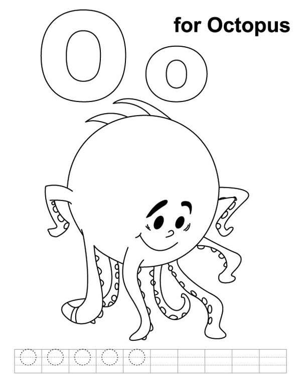 shy octopus for letter o coloring page best place to color
