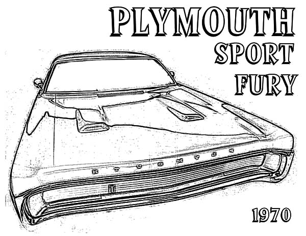 coloring pages 1970 plymouth sport fury chevy cars coloring pages