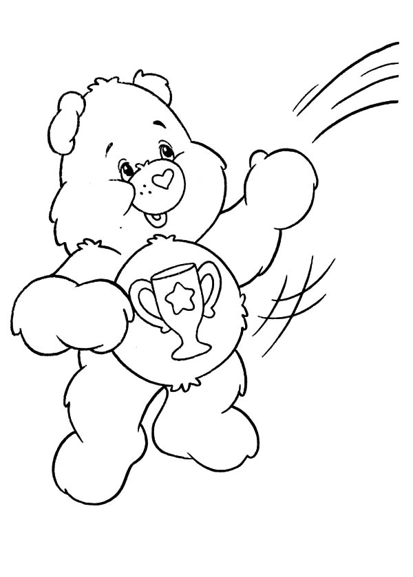 care bears playing with friends at rainbow coloring pages care bears