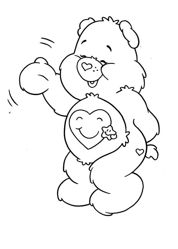care care bears coloring pages for kids