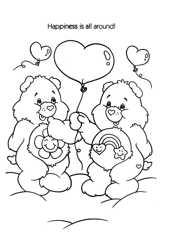 care bears winter time coloring pages care bears winter time coloring