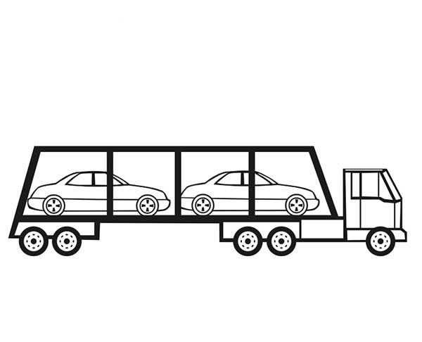 Car Color Pages Printable Coloring Only Rhwppfup7de: Car Carrier Coloring Pages At Baymontmadison.com