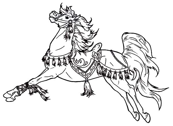 Carousel Horse Coloring Pages Moreover Carnival Page