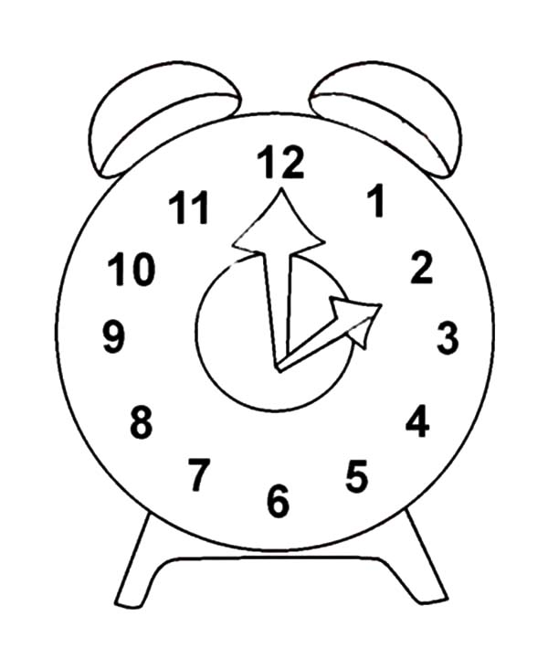alarm clock coloring sheet coloring pages now