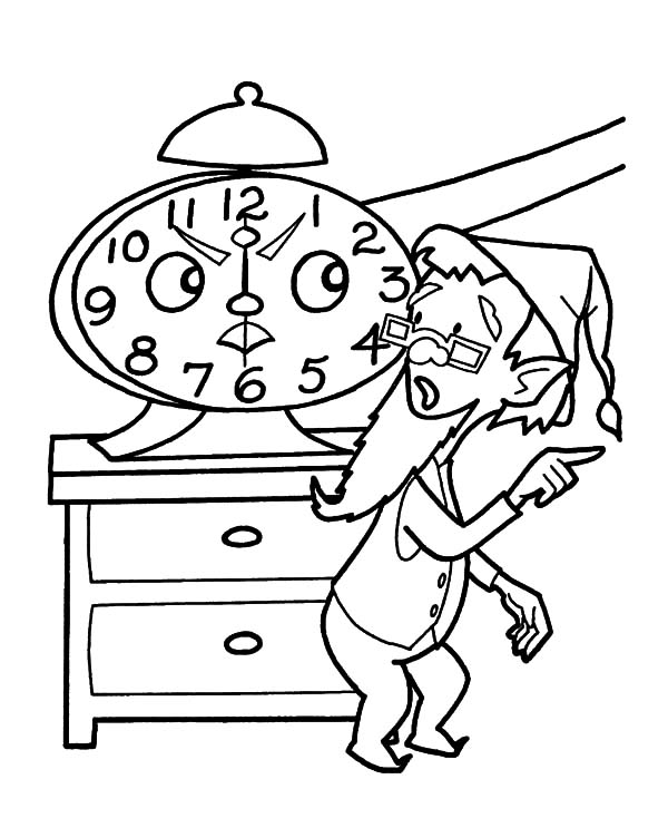 alarm clock coloring pages best place to color