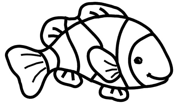 nemo clown fish coloring page coloring pages
