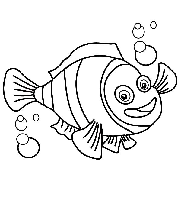 clown fish with bubbles coloring pages best place to color