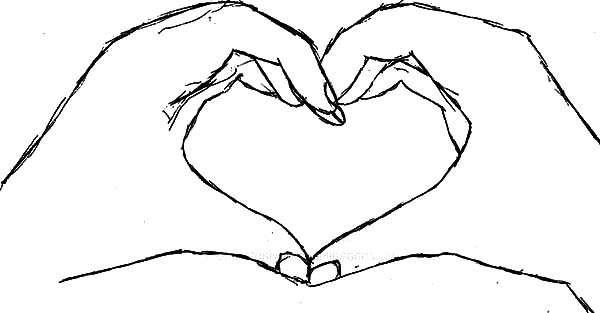 heart shaped hands coloring pages best place to color