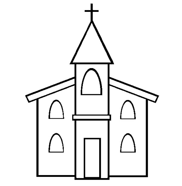 Picture Of Church Coloring Pages Best Place To Color