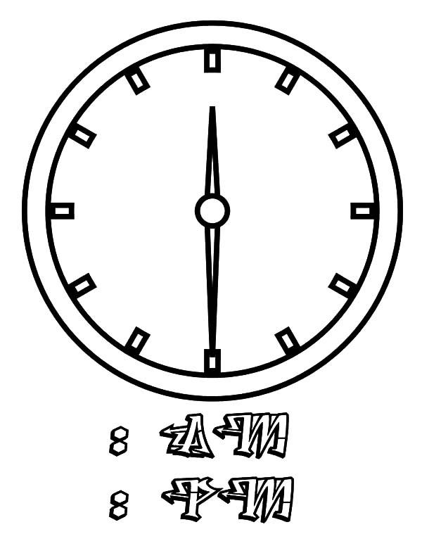clock alarm ringing coloring pages clock alarm ringing coloring