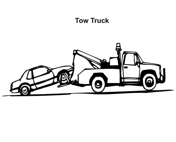 tow truck car transporter coloring pages best place to color