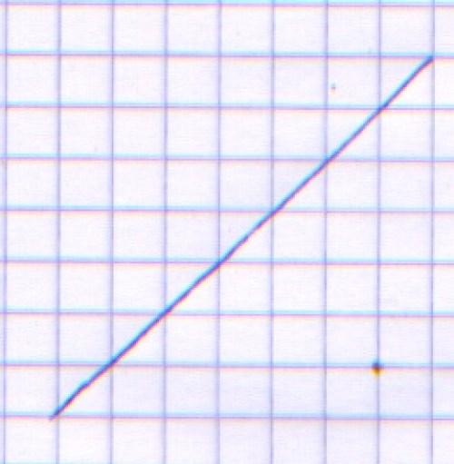 una linea obbliqua disegnata a mano
