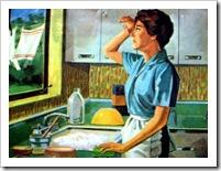 Mujer trabajando en el hogar.