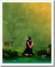 La mujer y la naturaleza.