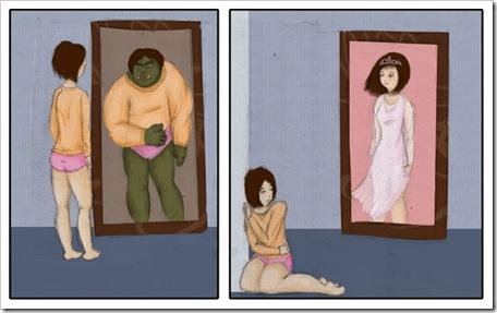 A veces nos vemos como ogros, otras veces como princesas...