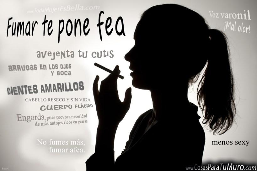 Fumar te pone fea
