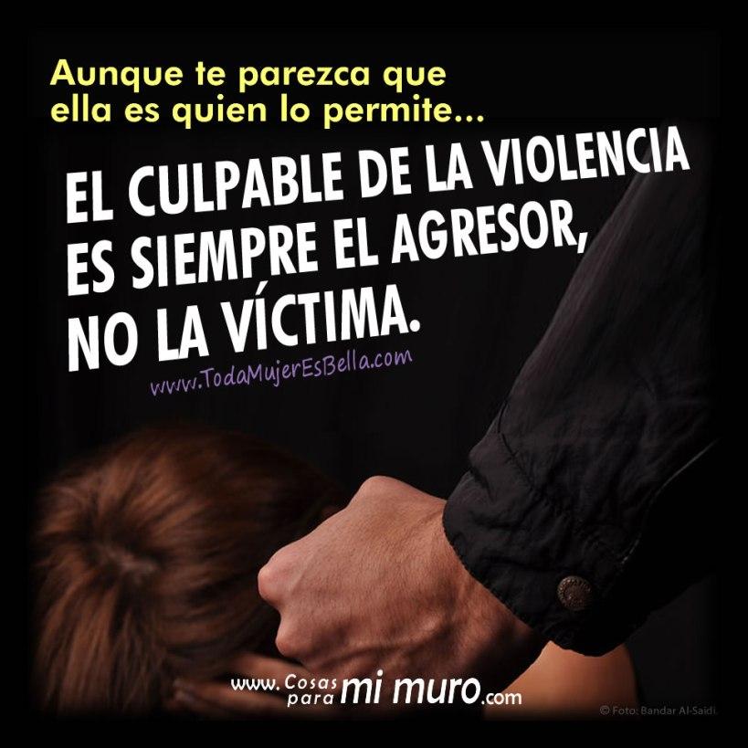 El culpable es el agresor, no la víctima
