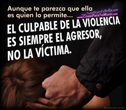 El culpable de maltrato es el agresor.