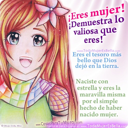 Eres mujer, vales mucho