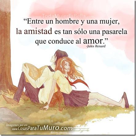 La amistad conduce al amor...