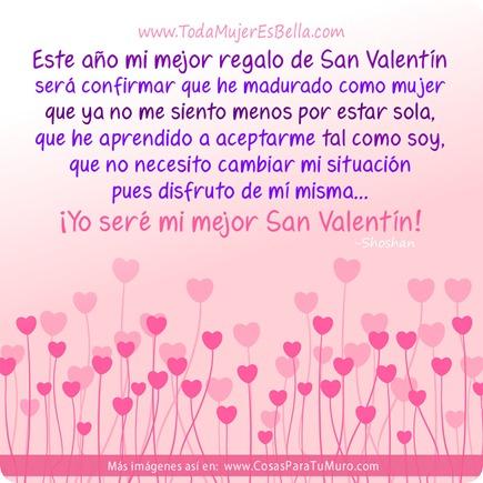 Yo seré mi mejor San Valentín