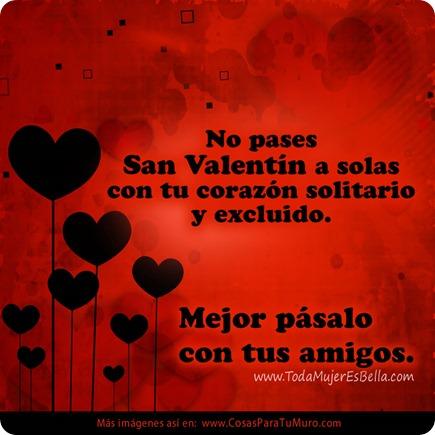 No pases San Valentín a solas