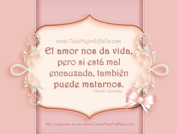 El amor nos da vida, pero si está mal encauzada, también puede matarnos.