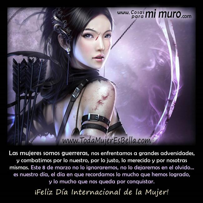 Mujeres guerreras: feliz día de la mujer