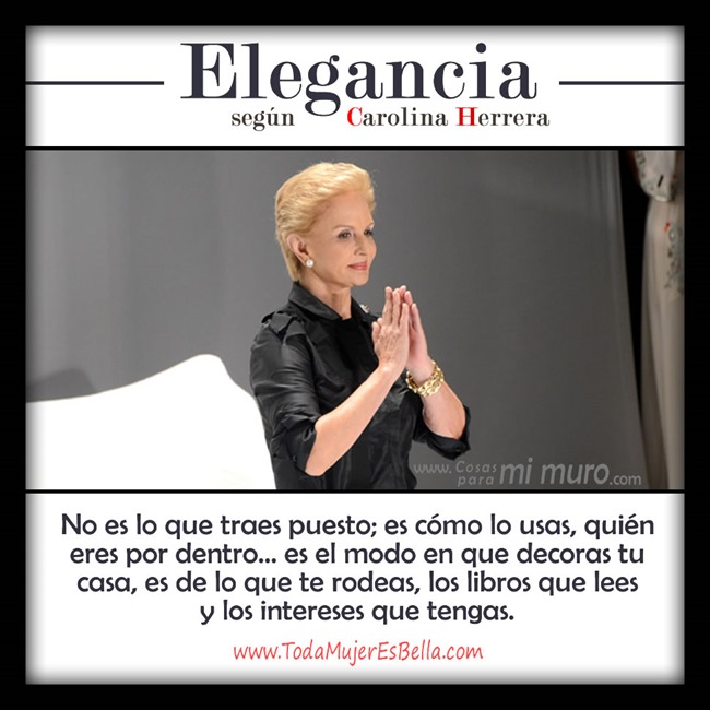 La elegancia, según Carolina Herrera