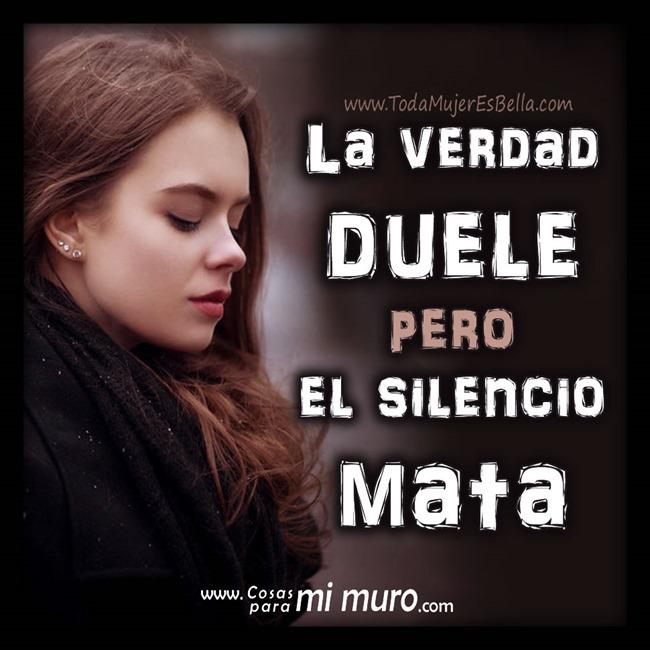 El silencio mata