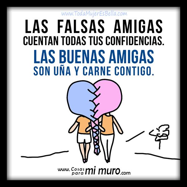 buenas y falsas amigas