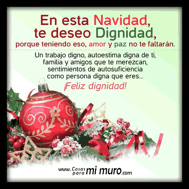 Deseo de Dignidad para Navidad