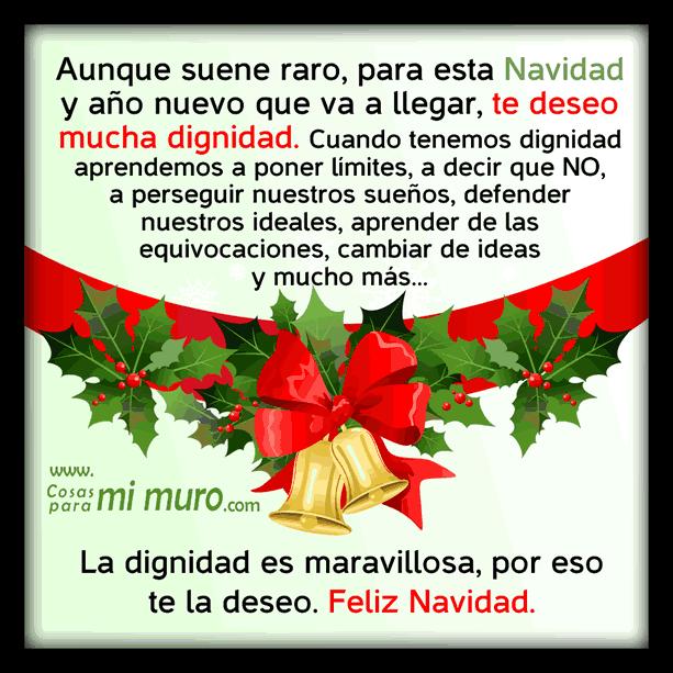te deseo dignidad en navidad