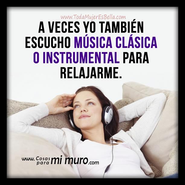 Música clásica o instrumental para relajarse