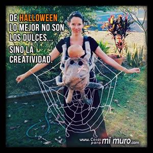Lo mejor de Halloween no son los dulces sino la creatividad.
