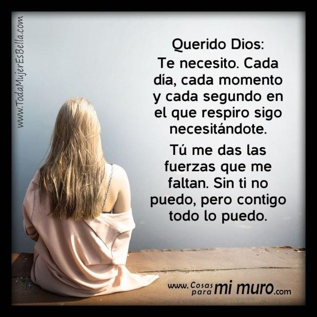 Querido Dios, te necesito