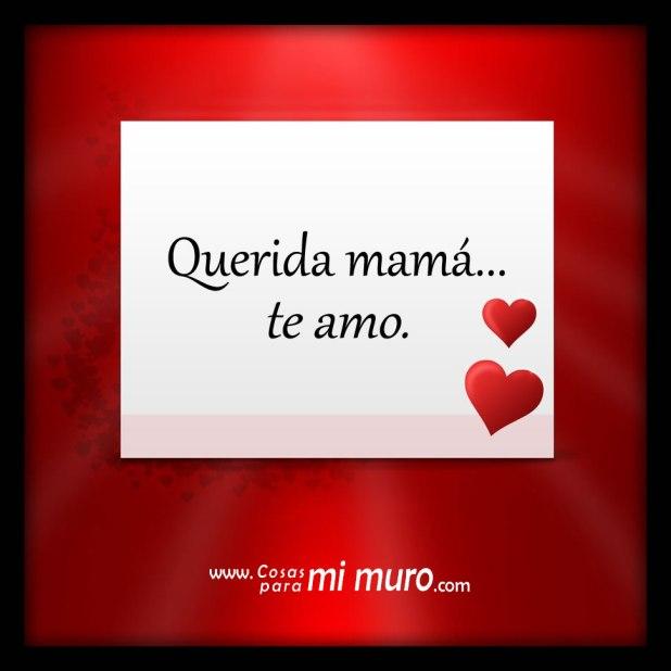 Querida mamá... te amo