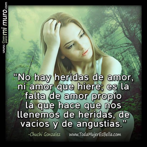 No hay heridas de amor