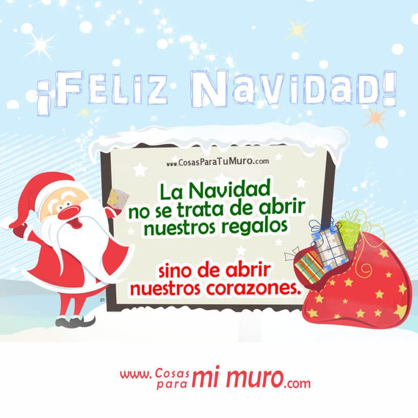 La Navidad no se trata de abrir nuestros regalos sino de abrir nuestros corazones