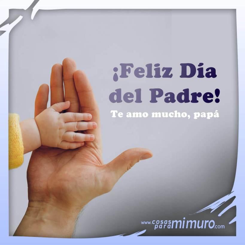 Feliz Día del Padre, te amo mucho papá